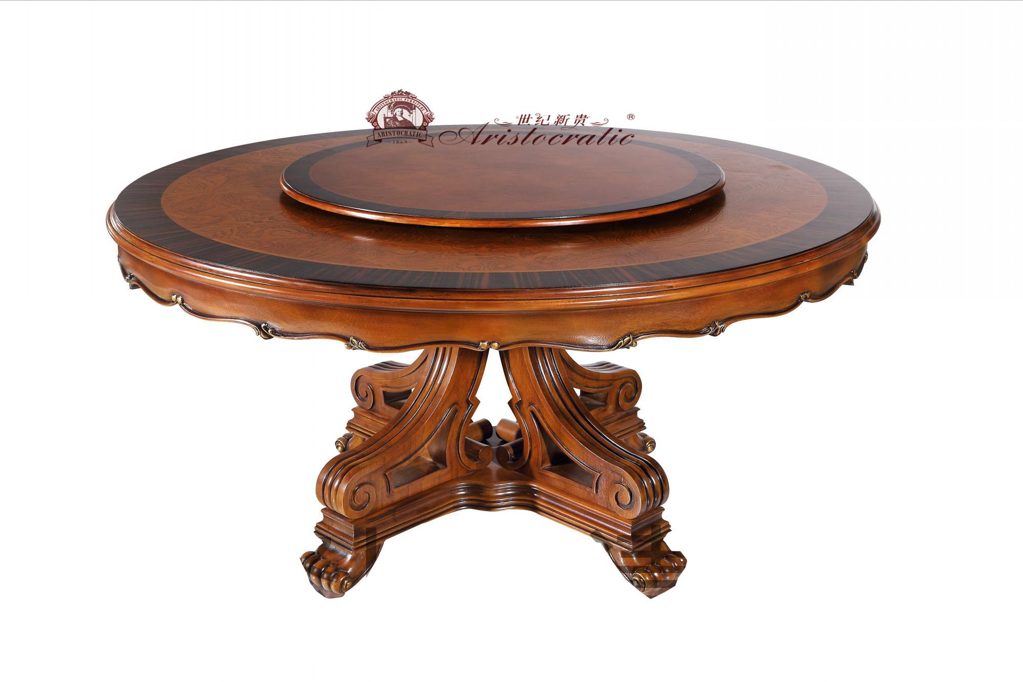 卡诺瓦皇室贵族欧式古典圆餐台